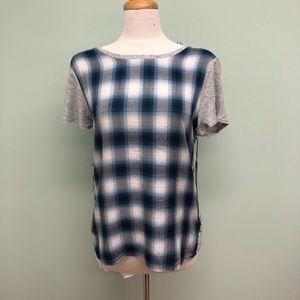 Vince Camuto Plaid T-Shirt (PM332)